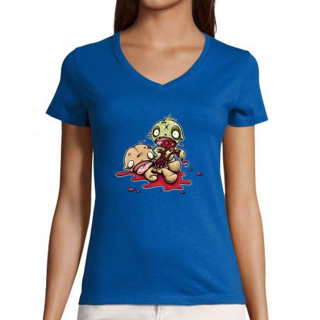 "T-shirt femme col V ""Fresh..."