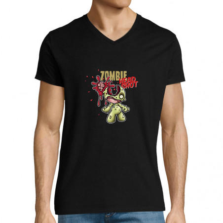 "T-shirt homme col V ""Head..."