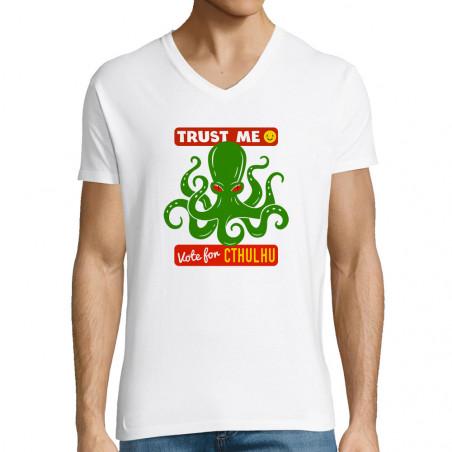 "T-shirt homme col V ""Vote..."