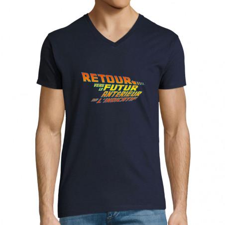 "T-shirt homme col V ""Futur..."