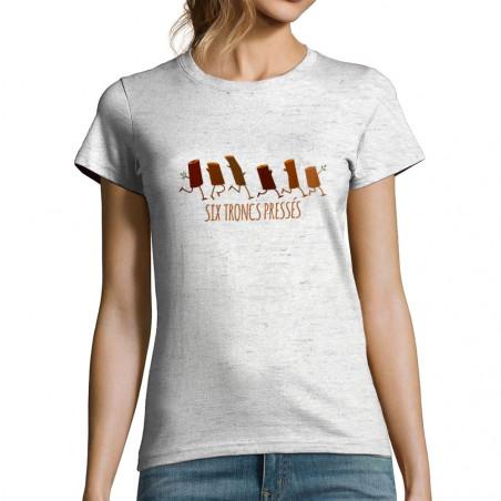 "T-shirt femme ""Six troncs..."