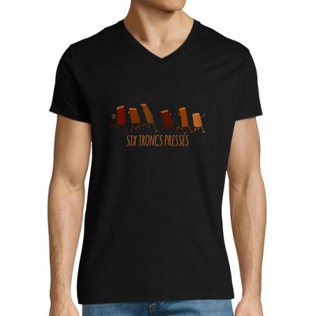 "T-shirt homme col V ""Six..."
