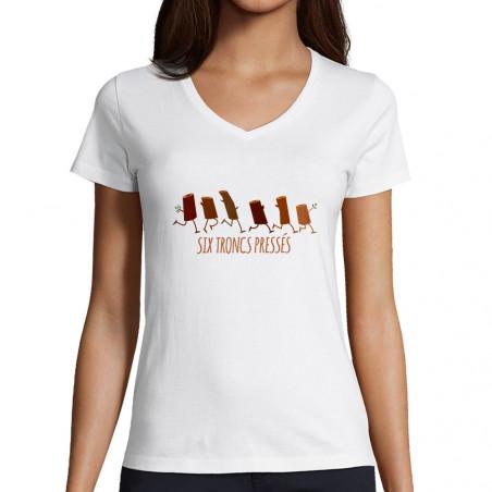 "T-shirt femme col V ""Six..."