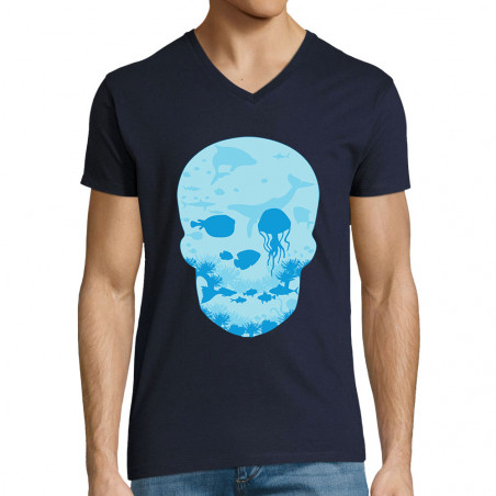 "T-shirt homme col V ""Sea..."