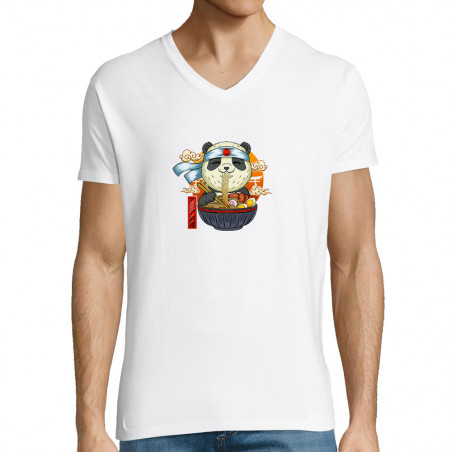 "T-shirt homme col V ""Asian..."