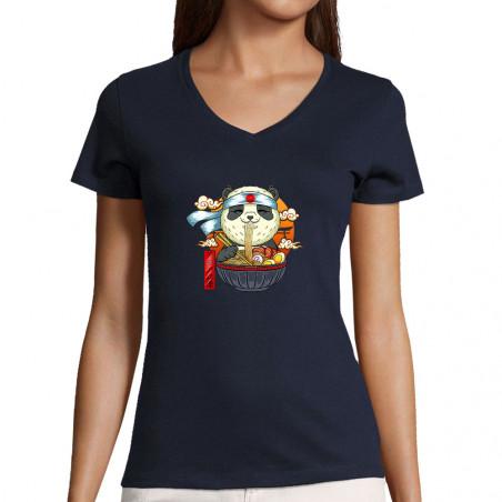 "T-shirt femme col V ""Asian..."