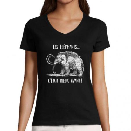 "T-shirt femme col V ""Les..."