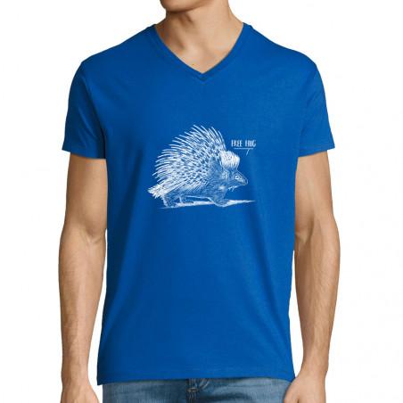 """T-shirt homme col V """"Free Hug"""""""