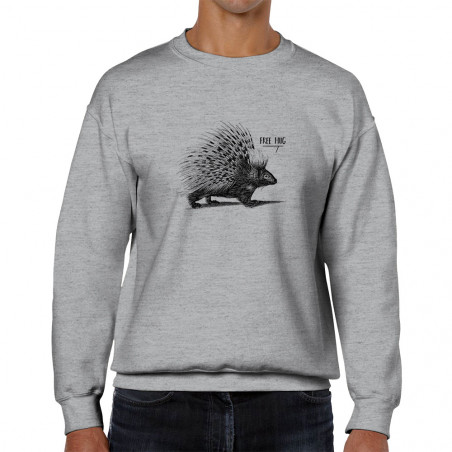 "Sweat homme col rond ""Free..."