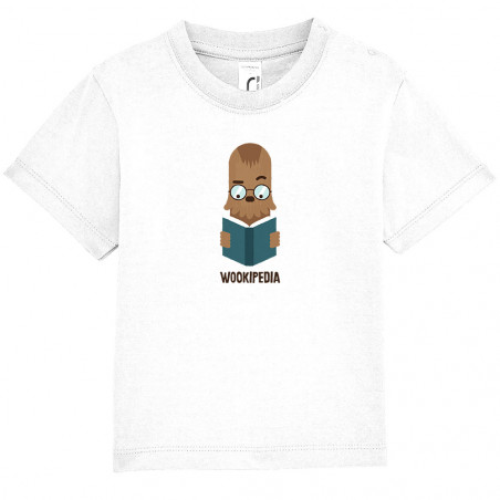 "Tee-shirt bébé ""Wookipedia"""