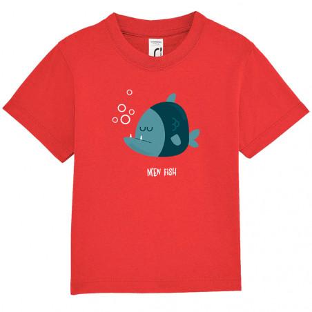 "Tee-shirt bébé ""M'en fish..."