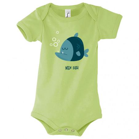 """Body bébé """"M'en fish (bleu)"""""""