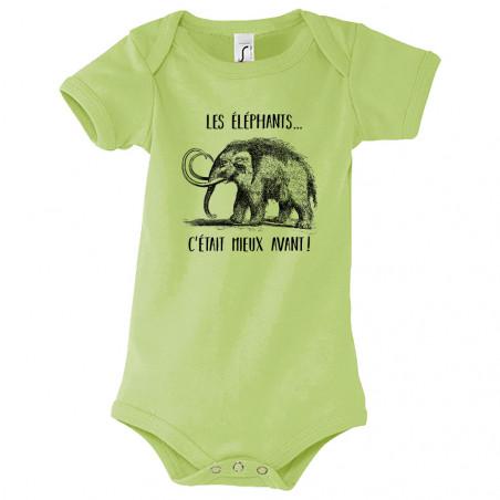 """Body bébé """"Les éléphants..."""