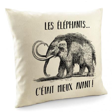 """Coussin """"Les éléphants..."""