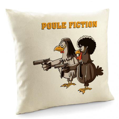 """Coussin """"Poule Fiction"""""""