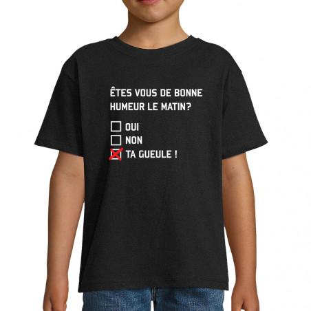 """Tee-shirt enfant """"Etes-vous..."""