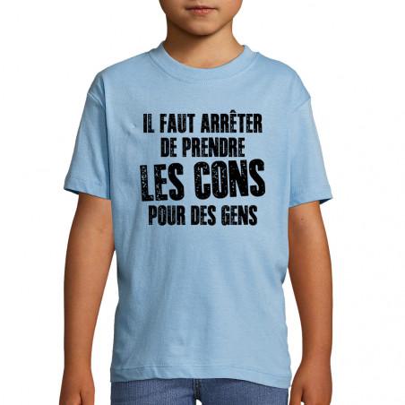"""Tee-shirt enfant """"Il faut..."""