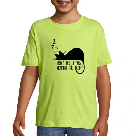 """Tee-shirt enfant """"Désolé..."""