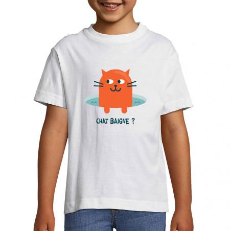 "Tee-shirt enfant ""Chat..."