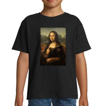 """Tee-shirt enfant """"Mona Lisa..."""