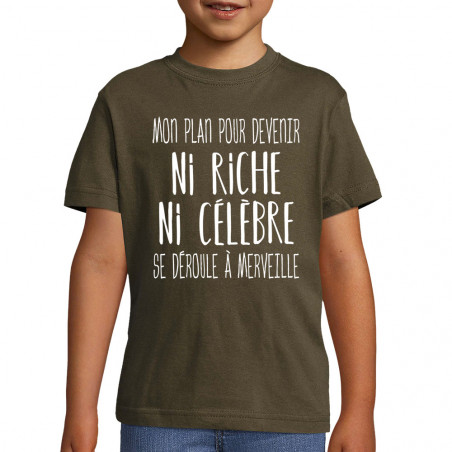 "Tee-shirt enfant ""Mon plan..."