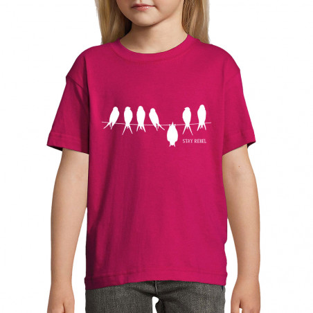 "Tee-shirt enfant ""Stay Rebel"""