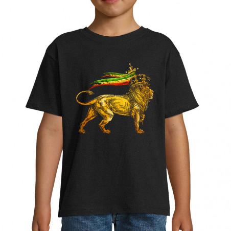 "Tee-shirt enfant ""Rasta Lion"""