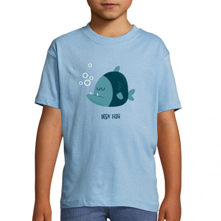 "Tee-shirt enfant ""M'en fish..."