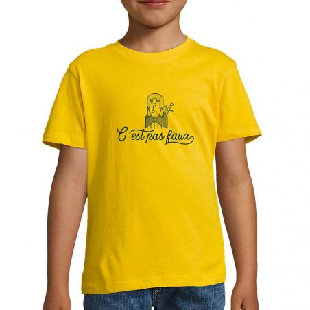 """Tee-shirt enfant """"C'est pas..."""