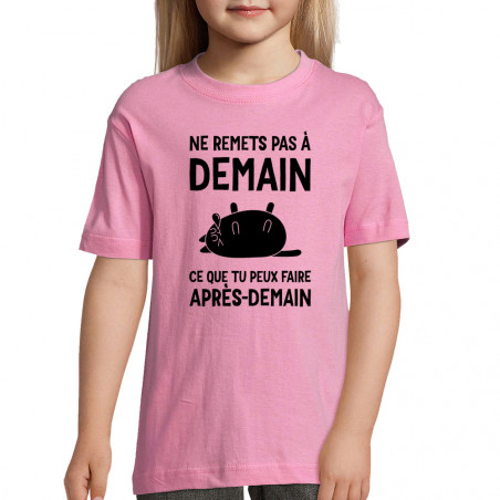 "Tee-shirt enfant ""Ne remets..."