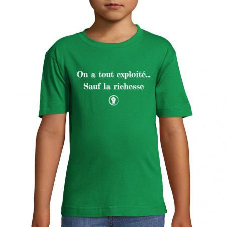 """Tee-shirt enfant """"On a tout..."""