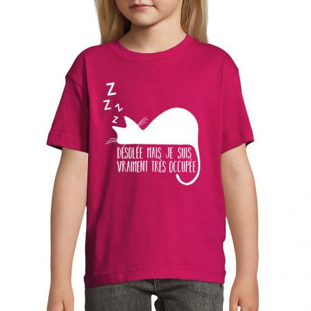 """Tee-shirt enfant """"Désolée..."""