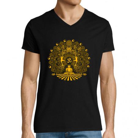 "T-shirt homme col V ""Buddha..."