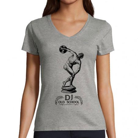 """T-shirt femme col V """"DJ Old..."""
