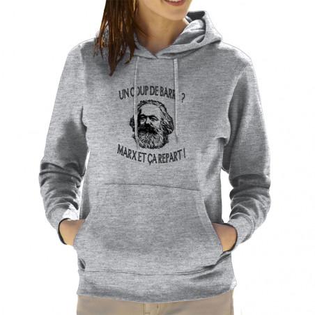 """Sweat femme à capuche """"Marx..."""