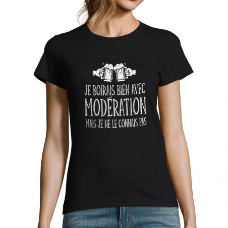 """T-shirt femme """"Je boirais..."""