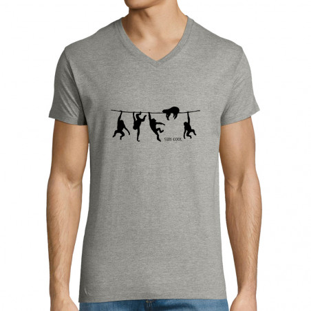 """T-shirt homme col V """"Stay..."""