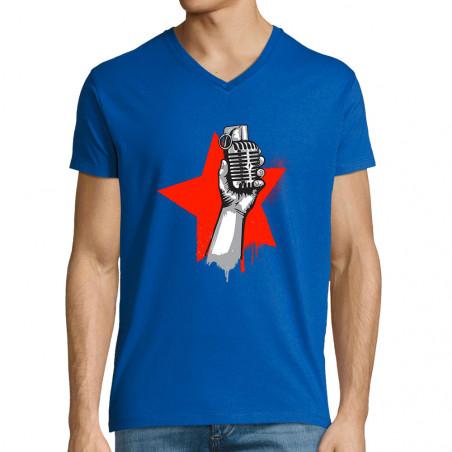 """T-shirt homme col V """"Resist"""""""