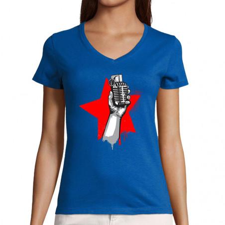 """T-shirt femme col V """"Resist"""""""