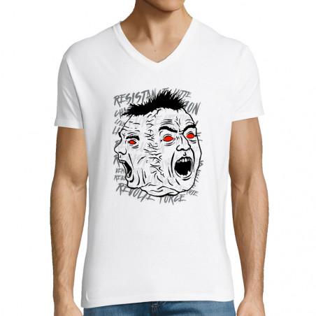 "T-shirt homme col V ""Siamese"""