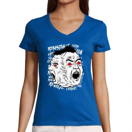 """T-shirt femme col V """"Siamese"""""""