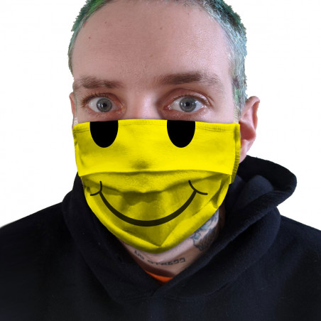 """Masque en tissu """"Smiley"""""""