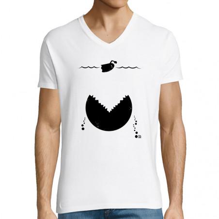 """T-shirt homme col V """"Les..."""