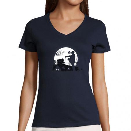 "T-shirt femme col V ""Hitch..."