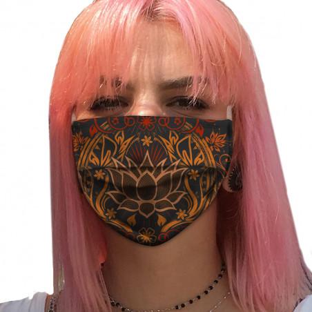 """Masque en tissu """"Lotus..."""