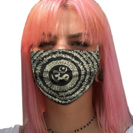 """Masque en tissu """"Ohm Spiral..."""