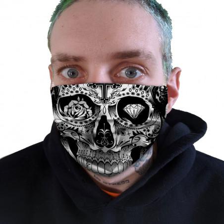 """Masque en tissu """"Tattooed..."""