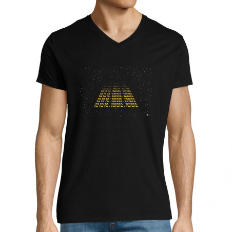 "T-shirt homme col V ""Tatata..."