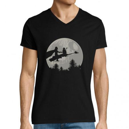 """T-shirt homme col V """"Yoda..."""