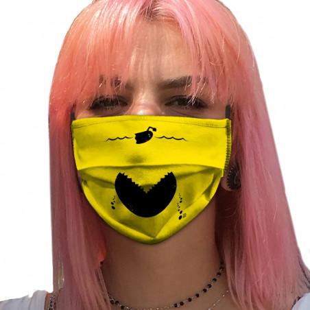 """Masque en tissu """"Les dents..."""